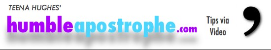 Humble Apostrophe Video Newsletter logo